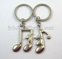 Couple keychain music/fashion music key chain