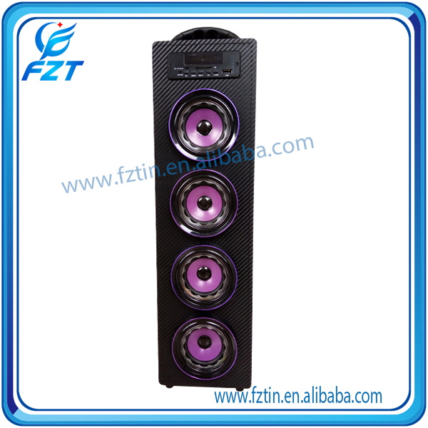 Made in China wooden material af mini digital speaker UK-22 wooden with LED screen display