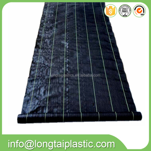 UV treated black color pp woven landscape fabric weed mat ground cover mat