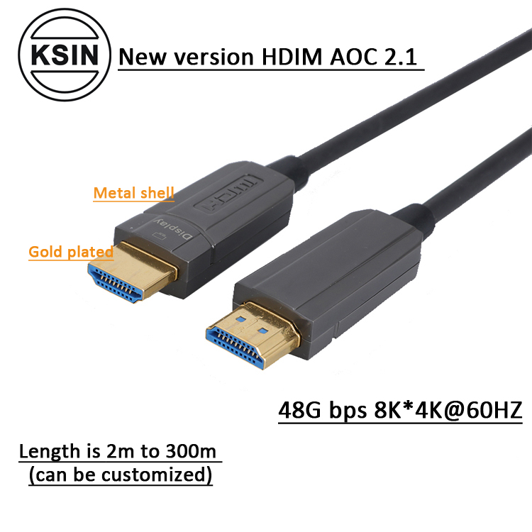 Factory custom 8K 48Gbps fiber optic HDMI 2.1 AOC cable