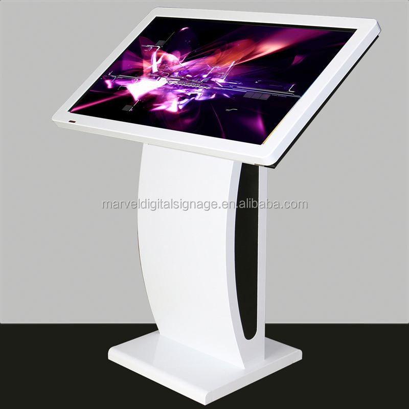 Indoor LCD totem kiosk digital multimedia computer system