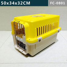 Small size---Comfortable design of 4 sides ventilation airline pet cage/ dog kennel/ plastic pet house