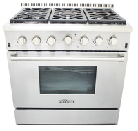 "Table-top gas cooktop thor kitchen 36""gas range stove"