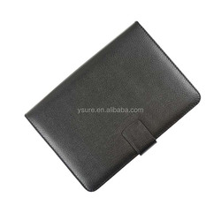 Li Chi pattern leather case for Apple ipad, magnet closure and elasticity fixed ,hot wholesales .
