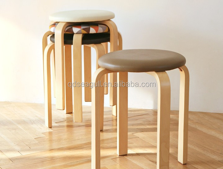 livingroom usage round wooden stool