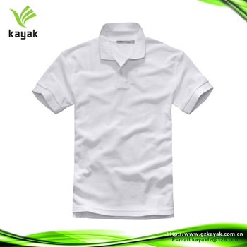 Custom men pique dry fit polo tshirt with printed 2014