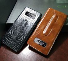 Hot selling real leather case for samsung galaxy note 8 back case,finest leather & workmanship note8 case leather