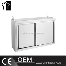 Germany Kitchen Catering Equipment 2 Sliding Doors Wall Hanging Cabinet including Mounting Material