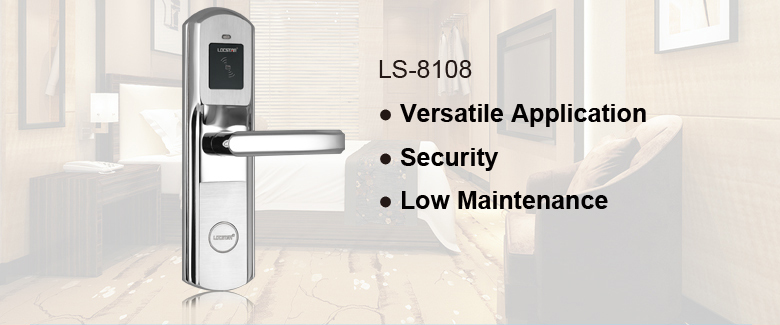 stainless steel keyless RF hotel door lock