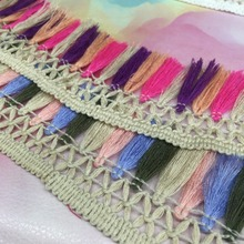fringe trimming tassel fringe lace for decoration lace fabric,african lace fabric YP-7956