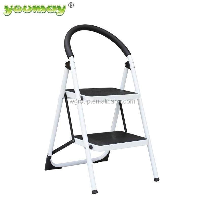Lightweight 2 Step Ladder Steel Folding Anti-Slip Pedal 330lbs Capacity Ladder for Kitchen sunho