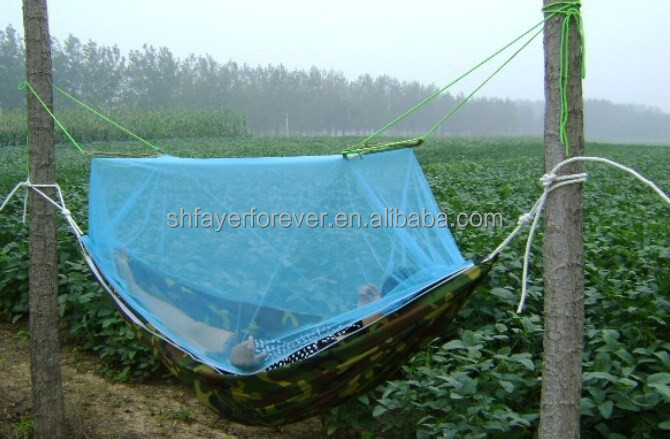 cotton canas army camouflage hammocks with mosquito netting