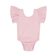 New design customized ruffle shoulders newborn baby clothes romper set