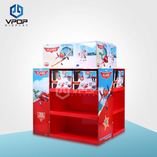 2 Side Pallet Paper Display Stand Cardboard Display Rack For toys retail