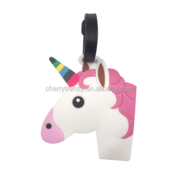 Travel Accessories Unicorn Rubber Luggage Tag