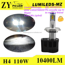 LED Headlight the Most Bright Light EVER H4 Phi lips Lumileds H7 LED 12v 55W pk XHP70