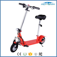 20km/h Max speed 30km Max mileage 2 wheels brushless motor folding scooter with seat light electric scooter for adults