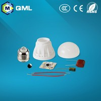 220-240V CKD led bulb parts and components 3w/5w/7w/9w/12w-40w led light parts