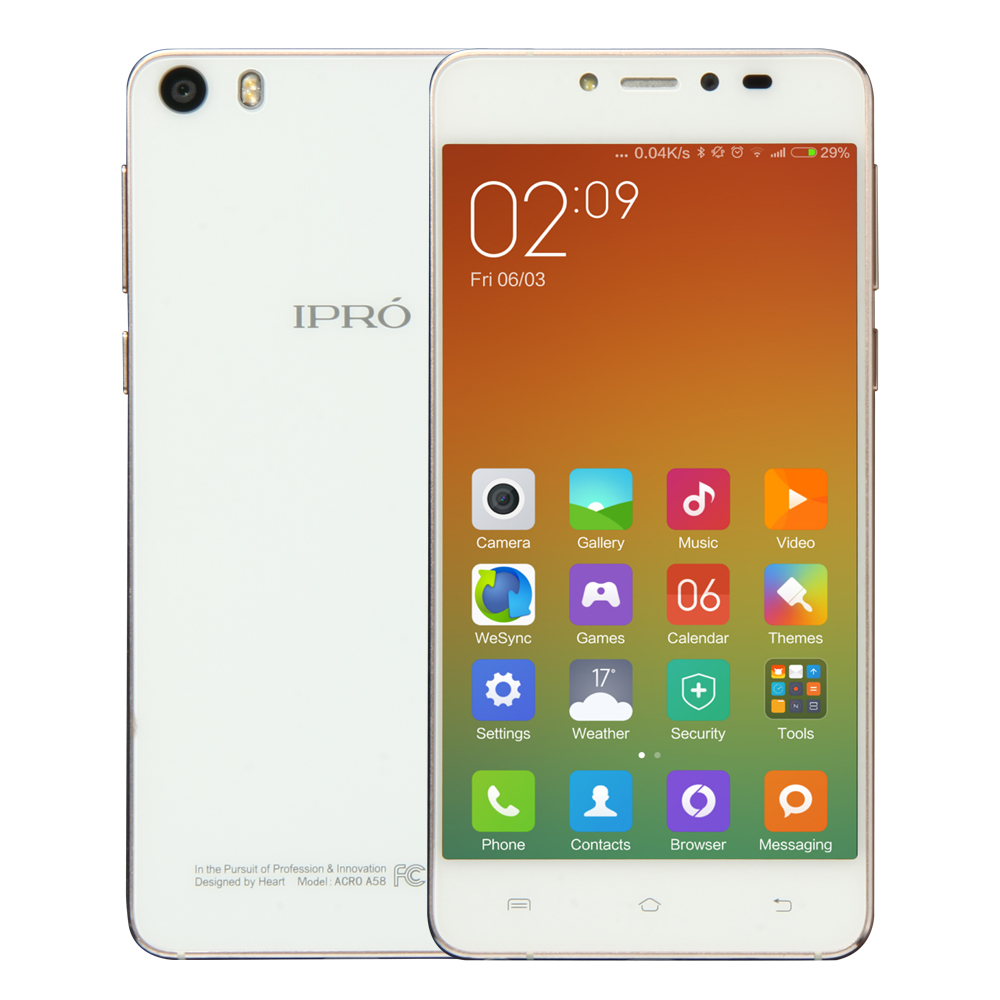 IPRO A58 original 4g lte quad core HD AMOLED full metal mobile phone latest slim bar mobile phones with CE certificate