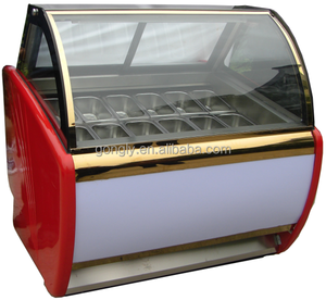 Guangdong factory Italian gelato showcase / commercial ice cream display case freezer