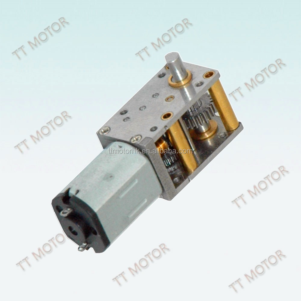 12mm 12 Volt Geared Dc Generator Motor With Worm Gearbox