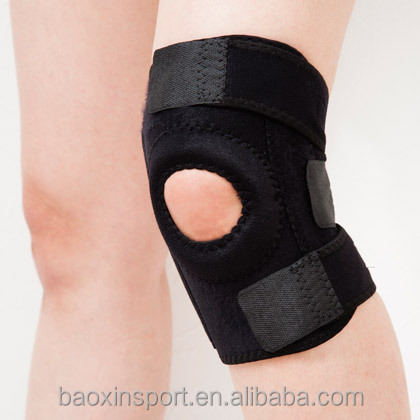 Knee Brace Support For Arthritis, ACL, Running, Basketball, Meniscus Tear, Sports, Athletic. Open Patella Protector Wrap