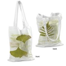 Wholesale promotional custom heat transfer printed canvas tote bag with flower