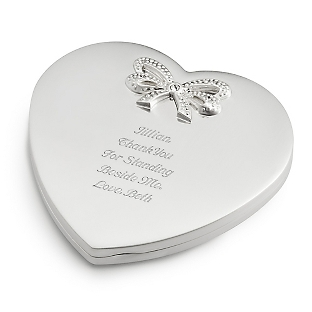 heart-shapede metal pocket mirror