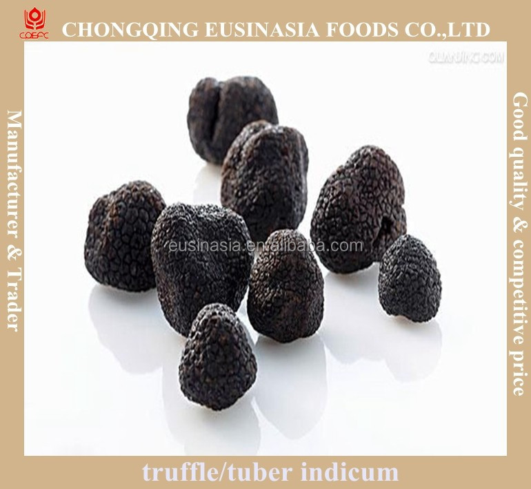 deep frozen tuber indicum black truffle