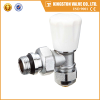 T201 China manufacturer yuhuan factory nickel plated forging brass radiator angle valves for water central heating system