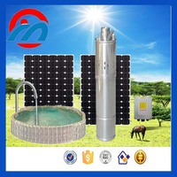 24v deep well submersible solar electric water pump with flexible solar panel