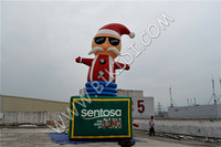 2015 hot sale inflatable Christmas decoration,inflatable Santa Claus,Santa Claus inflatable model C1043