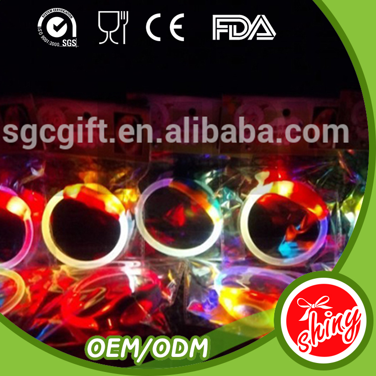 2016 Party decoration silicone multicolor remote controlled led bracelet