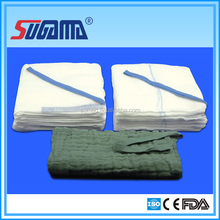 100% cotton bleached unwashed or washed abdominal gauze pad