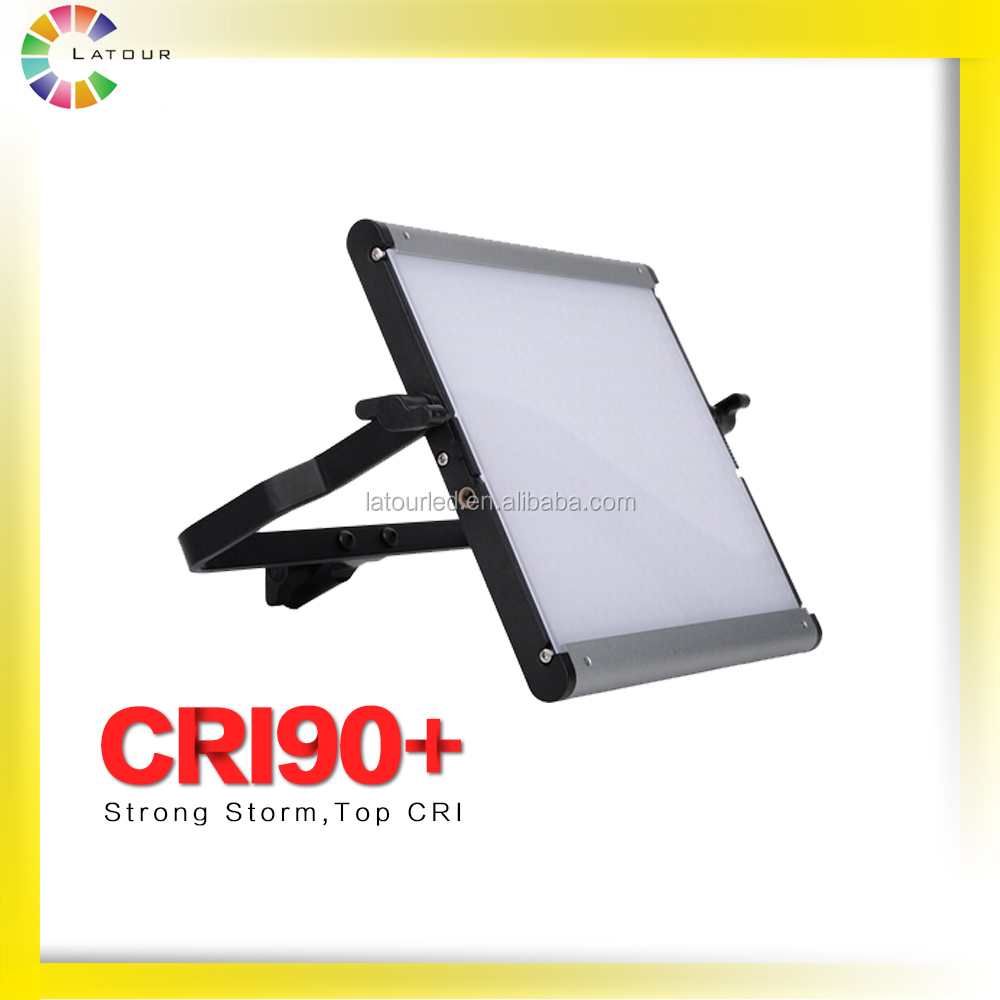 China supplier lightweight hiighest CRI90 Panel Bi-color continue Studio film camera shooting LED Light