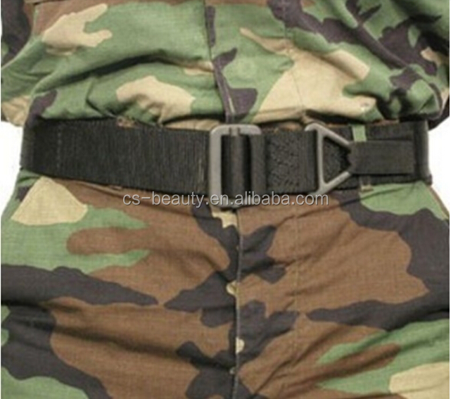 Men's Outdoor Sport Training Army Tactical Nylon Belt Military Fabric Heavy Duty Durable Metal Buckle Belt