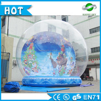 Advertising Giant Inflatable Human Snow Globe, photo snow water globes,transparent inflatable snow globes