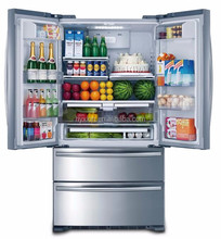Stainless steel kitchen appliance side by side home fridge refrigerator