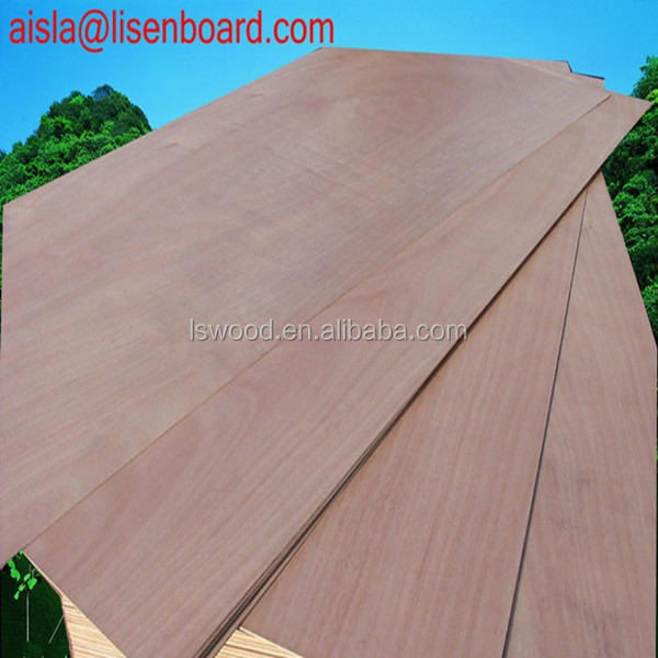 2.5mm 2.7mm,3.6mm,5.2mm, Okoume Plywood Door Skin Thickness 4mm
