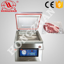 price for hongzhan DZ300 stianless steel vegetables fruits single chamber rice vaccum sealing machine