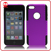 Wholesale Custom Double Layered Hybrid Combo PC+Silicone Case for iphone5