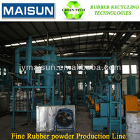 Full Automatic Fine Rubber Powder Making Machine / Scrap Tyre Recycle