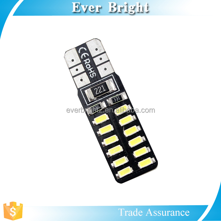 T10 car led bulb with CE, Rohs/canbus auto led bulb with certificates/3014 SMD led light