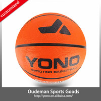 2015 YONO New style official size rubber basketball for training