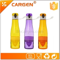 OEM portable travel plastic lemon juice water bottle