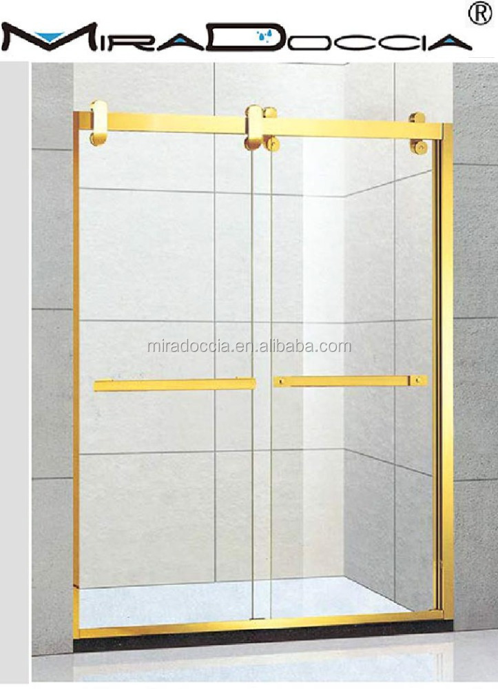 ADJUSTABLE FRAMELESS WALL TO WALL SHOWER SCREEN