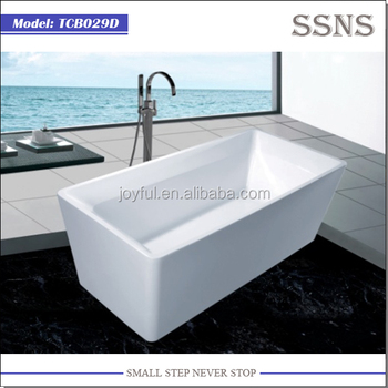 2015 new design freestanding Lucite plastic bathtub TCB029D