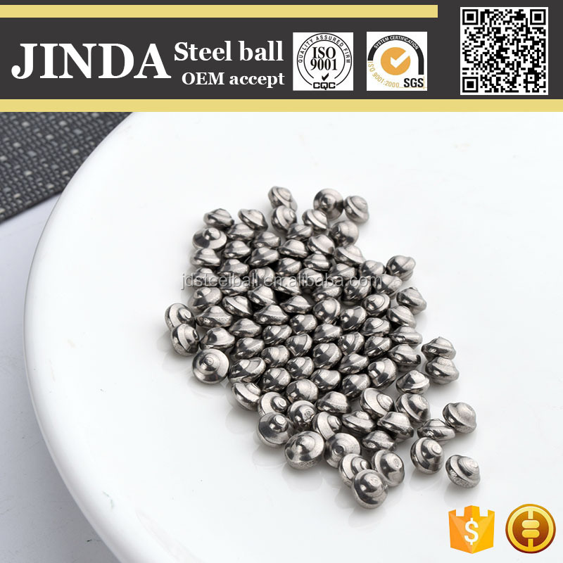 Cold heading and polished UFO shaped sus304 stainless steel balls