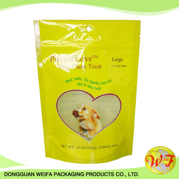 Printed Aluminum Foil Stand Up Plastic Zipper Ziplock Bag Pet Food Packaging Bag With Food Grade