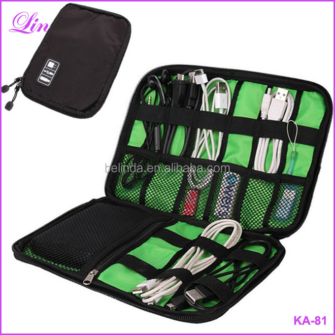 Electronic Organizer Gadget electronic USB Earphone Case StorageTravel Portable bag
